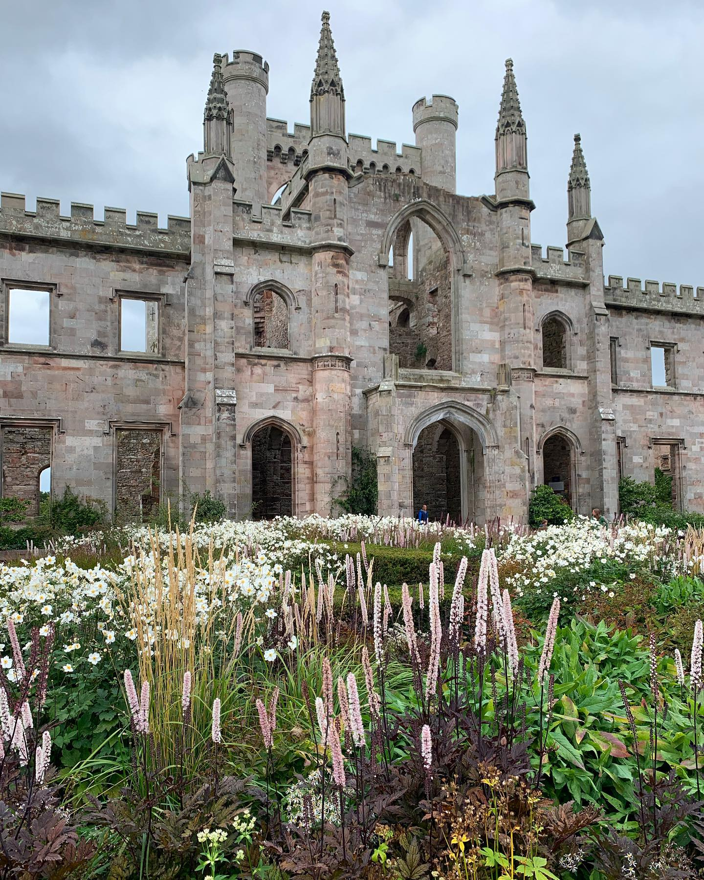 More @lowthercastle ...the tapestry garden by @coyotewillow in front of the ruin looking abundant at the end of the summer