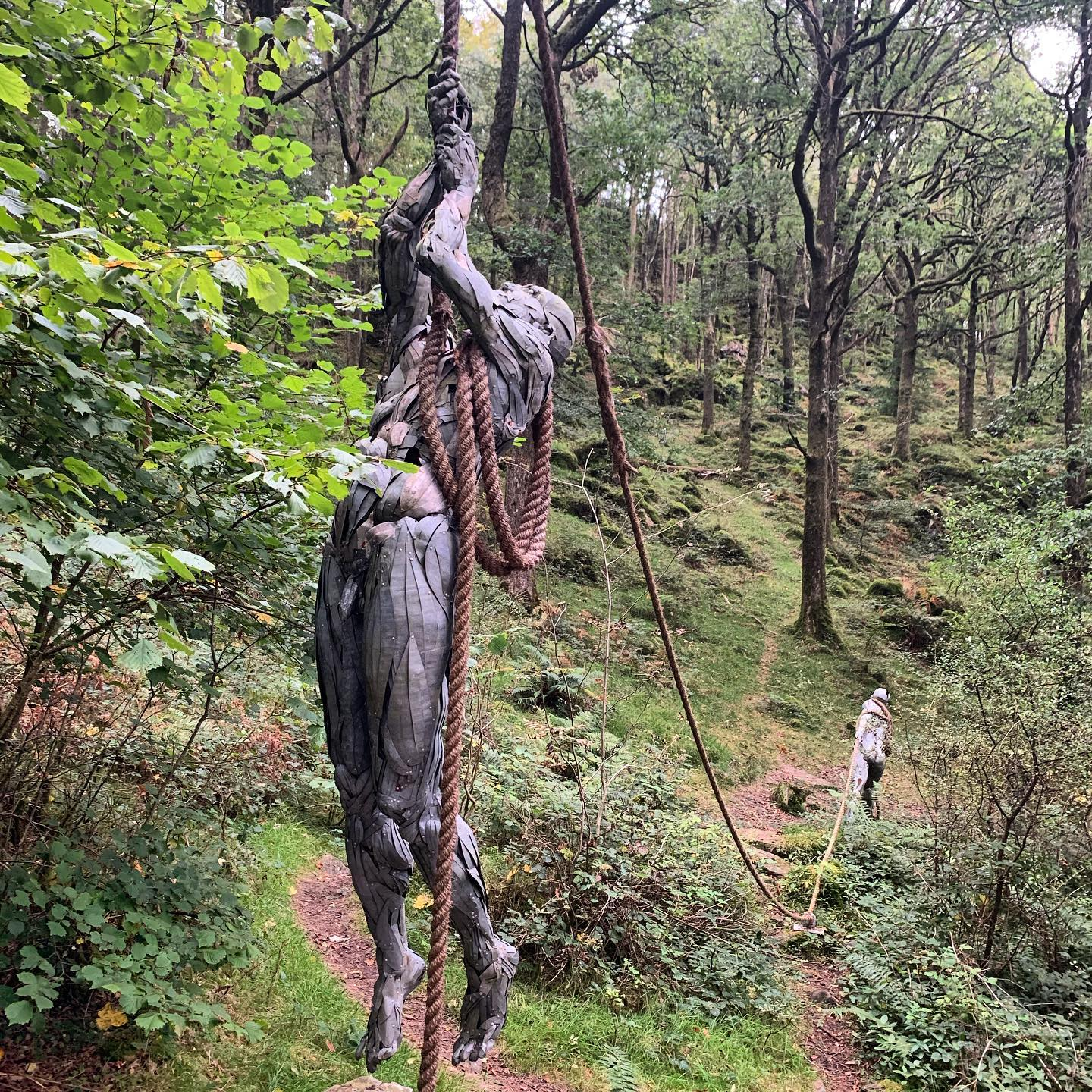 When sculpture just works and makes a beautiful setting even better, Mea Culpa By Robert Bryce Muir @grizedale_sculpture_