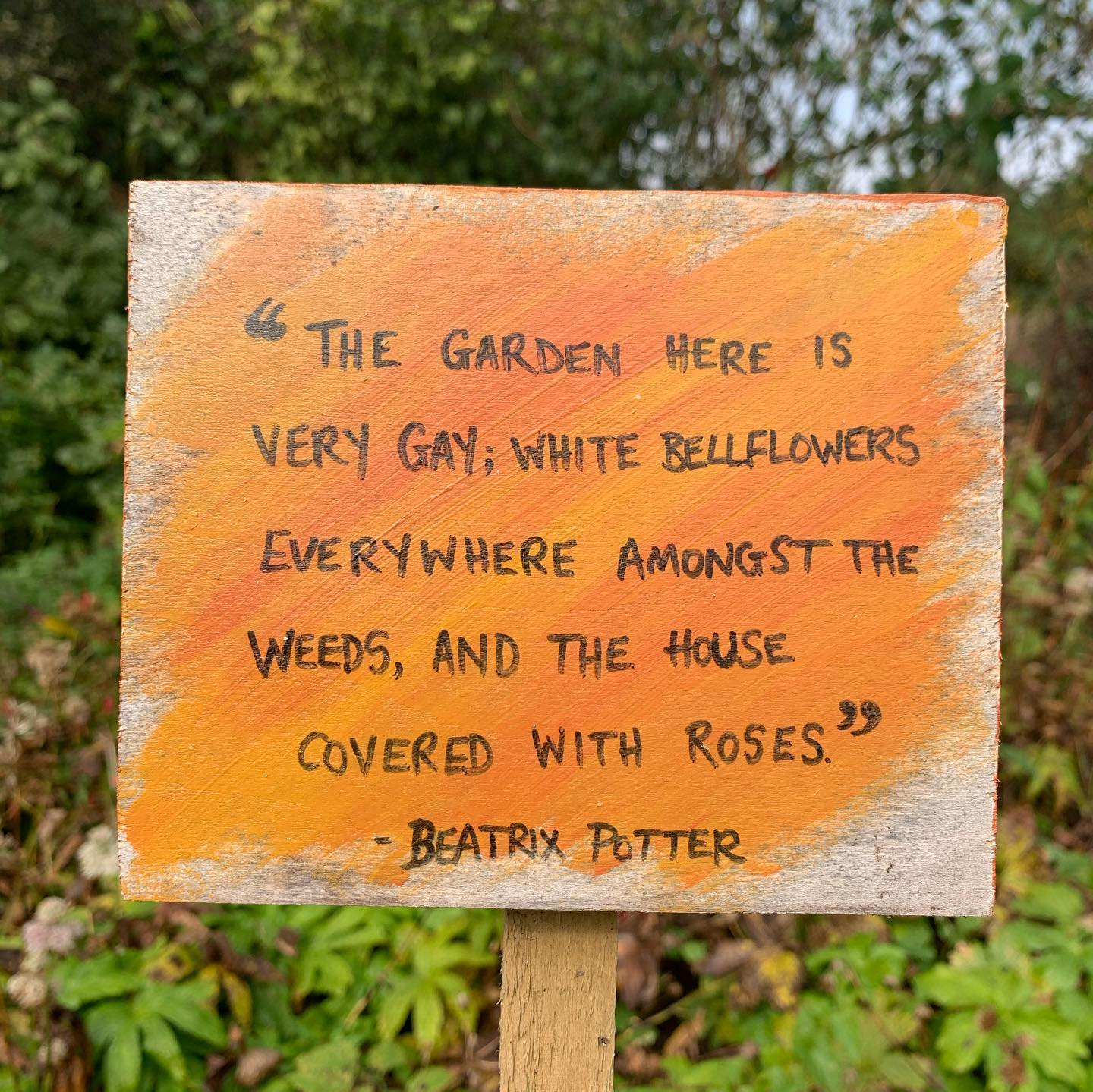 I do love a gay garden! Visited Beatrix Potter's Hilltop today! The charm of an unfussy, uncomplicated and relaxed rustic garden. Must must must embrace in my own garden more! @nationaltrust